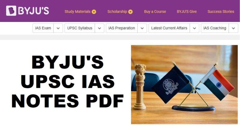 BYJU'S UPSC IAS NOTES PDF : Pre Plus Mains