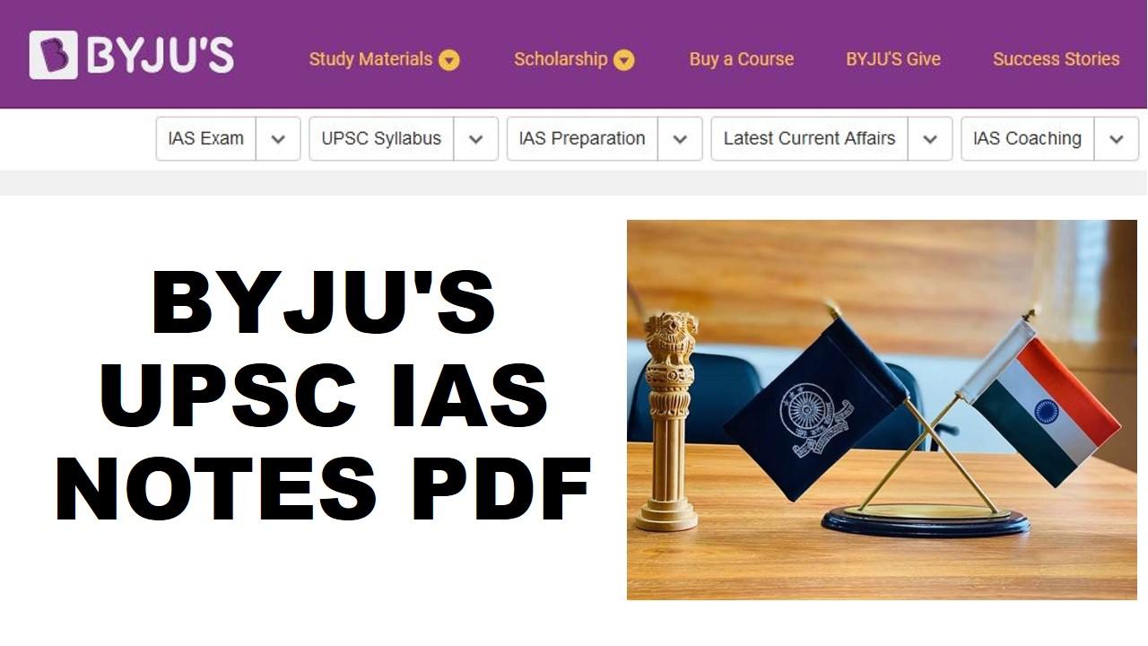 BYJU'S UPSC IAS NOTES PDF